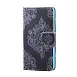 Cross Textured Leather Magnetic Stand Phone Case with Card Slot for Huawei Honor 5X - Retro Flowers