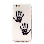 de hand van god IMD gedrukt TPU soft rugdekking voor iPhone 6 / 6s (diverse kleuren)
