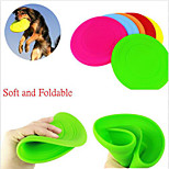 Colorful Pet Dog Training Fetch Toy Soft Puppy Flying Disc Frisby Frisbee New Random Color