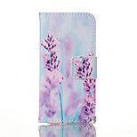 Lavender Painted PU Phone Case for iphone5/5S/SE