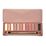 12 Colors Naked Earth Color Eyeshadow Eye Shadow Matte Cosmetic Makeup Palette & Brush Mirror Set