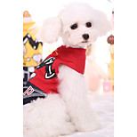 Pet Clothing For Cat Dogs Vest Summer Puppy 2 Colors Cartoon Shirt Cotton Pet Supplies