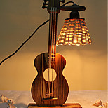 Creative Wood The Violin Container Decoration Desk Lamp Bedroom Lamp Gift for Kid
