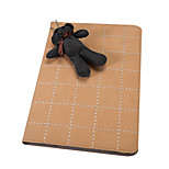 Grid Pattern with Cute Rabbit PU Leather with Stand Smart Case for iPad Air 2(Assorted Corlors)