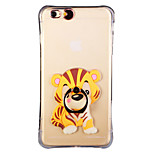 Glow in the Dark South China Tiger with Hand Ring and Strap PC Back Case for iPhone 6Plus/6SPlus 5.5