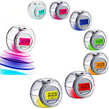 Led Color Changing Light Nature Sound Alarm Clock Calendar Snooze Temperature
