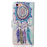 Campanula Pattern PU Leather Material Phone Case for iPhone 5/5S/iPhone SE