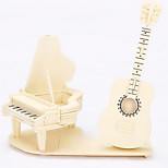 Piano Guitar Wood 3D Puzzles Diy Toys