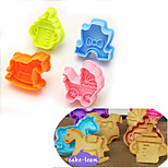 Cute Whirligig Cutter Fondant Biscuit Mold Cake Sugarcraft Craft Moulds Modelling Tools,Set of 4