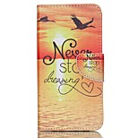 Never Stop Dreaming Cross Textured Leather Magnetic Case with Stand and Card Slot for Acer Liquid Z630 Z630S