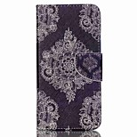 Retro Flowers Cross Textured Leather Magnetic Case with Stand and Card Slot for Acer Liquid Z630 Z630S