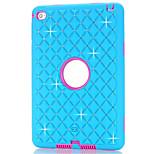 pc + silicone sur tout le ciel étoile cas de couverture arrière pour iPad mini-4 brillante de cas de couverture de conception