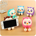 1PC Lovely Owl Creative Phone Stents Piggy Bank Birthday Gift Lazy Head Of A Bed (Style random)