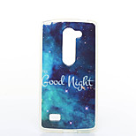 Good Night Pattern TPU+IMD Soft Case for LG Leon H340N