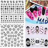 1pcs Fresh Nail Watermark Sticker 110-115
