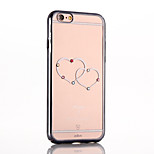 Double Love Color Diamond Electroplating PC Back Cover for iPhone 6 Plus/iPhone 6S Plus(Assorted Colors)