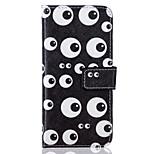 caja del teléfono material de cuero de la PU del patrón de ojo para el iphone 6 más / 6s plus