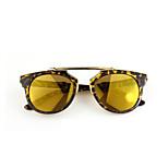 Sunglasses Women's Fashion 100% UV400 Round Tortoiseshell Sunglasses Full-Rim