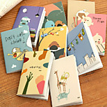 10PCS Cute Cartoon Animals 120 K Mini Note Pads(Style random)