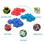 Dinosaur Shaped Silicone Chocolate Cake Biscuit Baking Mold Tray Ice Mold Bakewa(Random Color)
