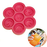 Flexible Cute Smiling Face Design 7-Grid Ice Cube Tray Mould for Your Summer(Random Color)