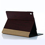 Newest Wood Grain Wallet Case Casual Style PU Tablet Protect Shell With Stand Holder for ipad pro 9.7 Assorted Colors