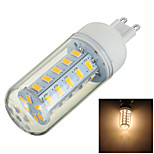 Luces LED de Doble Pin Decorativa Marsing T G9 5W 36 SMD 5730 400-500lm lm Blanco Cálido AC 100-240 V 1 pieza