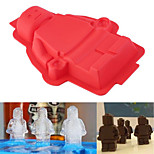 Silicone Robot Shaped Cake Pan Silicone Mold Baking Mould Candy Chocolate Ice Tray Tool(Random Color)