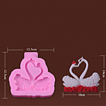 One Pair Of Swans Silicone Fondant Mold
