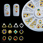 Fashion Metal jewelry Nail Art Decorations Wheel Nails Glitter Diy Nails Art Manicure