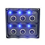 2016 nuova diapositiva arrivo switch con indicatore luminoso blu per 12v moto dell'automobile