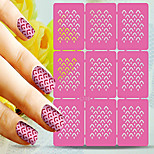 1pcs  Nail Art Hollow Stickers New Design Wave Stripe Heart Geomestric Shape  Nail Art Beauty  L101-110