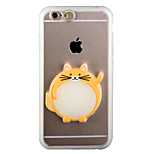 Glow in the Dark Plutus Cat PC Back Case with Strap and Stand for iphone6/6s