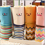 Fashion Smiling Face Rolls Pen Bag Canvas Students Creative Pen Bag