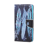 Cross Pattern Leather Wallet Cover Stand Case for Huawei Honor 5X - Colorful Feather