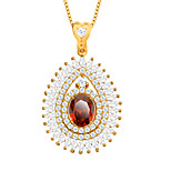 Zirconia Pendant Necklace 18K Gold Plated Austrian Crystal Fashion Jewelry Women Accessories Brand Gift P30106
