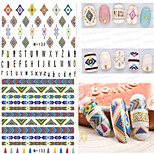 1pcs Fresh Nail Watermark Sticker 129-133