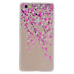 Peach Blossom Pattern Ultrathin TPU Soft Back Cover Case for Huawei P8 Lite