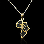 18K Real Gold Plated Map Of Africa Pendant
