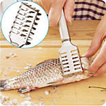 Stainless Steel Grip Handle Fish Scale Scraper Remover 7.5 Inch