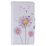 Purple Dandelion Painted PU Phone Case for Sony Xperia Z5 Compact/Z5