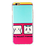 mein kawaii Muster Freunde imd gedruckt tpu weiche rückseitige Abdeckung für iphone 6 / 6S (verschiedene Farben)