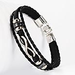 l'infini 8 forme pu bracelet pour hommes