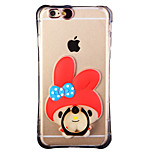 Glow in the Dark Red Hood Rabbit with Hand Ring and Strap PC Back Case for iphone6/6s