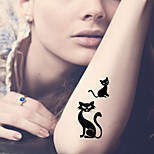 Fashion Temporary Tattoos Sexy Body Art Waterproof Tattoo Stickers Cats 5PCS