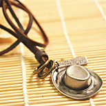 Vilam® Cowboy Hat Leather Necklace Copper Necklace Pendant Necklaces Sports 1pc