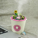 The High Quality Portable Essential Oil Diffuse Potted Humidifier (USB Cable Negative Ion Particles Ceramic Humidifier)