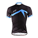 PaladinSport Men 's Short Sleeve Cycling Jersey DX620  blue steel  100% Polyester