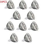 10pcs HRY® 9W MR16 900LM Warm/Cool Light Lamp LED Spot Lights(12V)