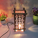 Creative Wood The Lattice Lamp Container Decoration Desk Lamp Bedroom Lamp Gift for Kid